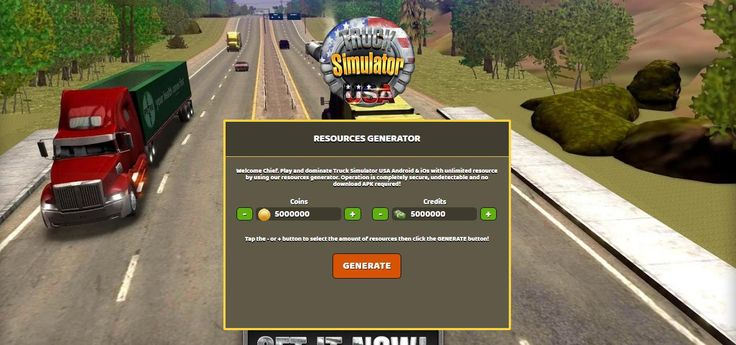 - Unlimited Coins - Unlimited Credits  Truck Simulator USA Hack Online:  http://resources-generator.online/truck-simulator-usa.html