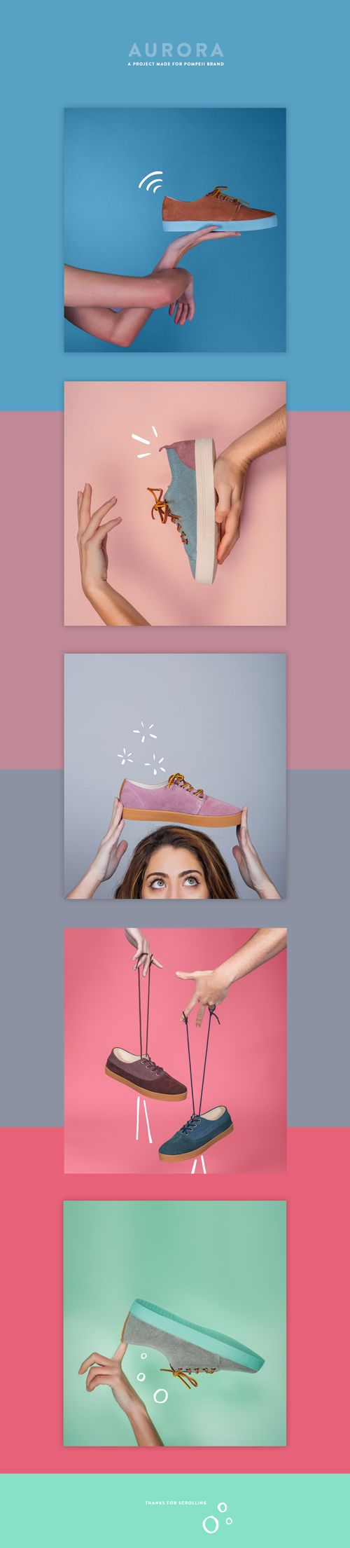 Pictures for the launch of the new season of sneakers in Pompeii Brand. Art direction.