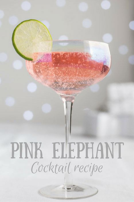 The beautiful Pink Elephant Cocktail Recipe is so simple to mix and tastes amazing! | The Hedgecombers