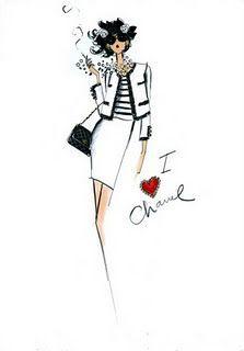 Coco Chanel Fashion Sketches