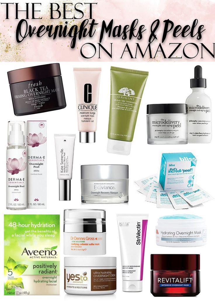 The Best Overnight Masks & Peels // Skincare on Amazon
