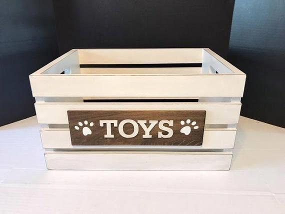 Storage Box Toy Box Dog Toy Box Wooden Toy Box Toy Storage Nursery Decor Dog Toy Storage Rustic Deco Dogdiy Diy Toy Storage Dog Toy Storage Toy Storage Bins