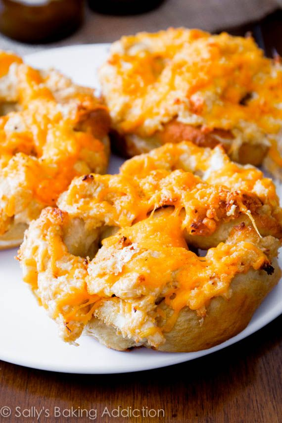 Homemade Crab Pretzels. A Maryland classic - easy pretzels made from scratch with cheesy crab dip!  Sally's Baking Addiction