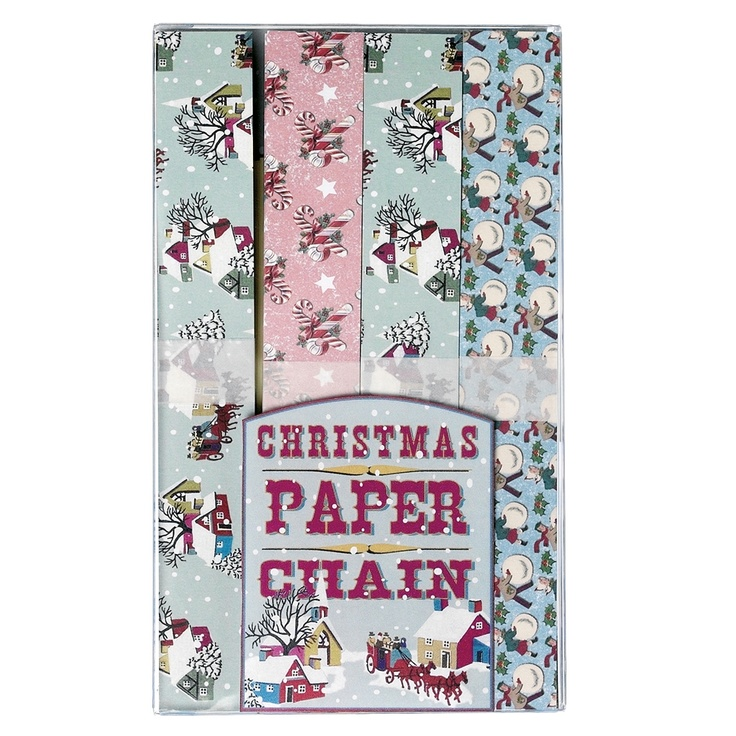 Christmas Paper Chain Kit Vintage