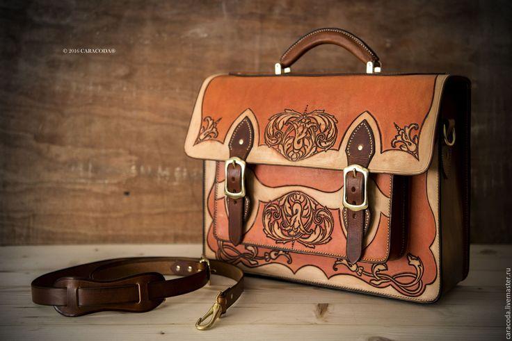 Купить Кожаный портфель, брифкейс, сатчел, briefcase, satchel, большой - кожаный портфель, брифкейс, сатчел, briefcase
