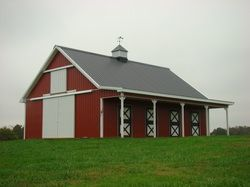 Image detail for pole barn garage carport metal building for Garage pole cover