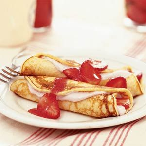 7 Ways With Strawberries | Strawberry Pancake Roll-ups | MyRecipes.com