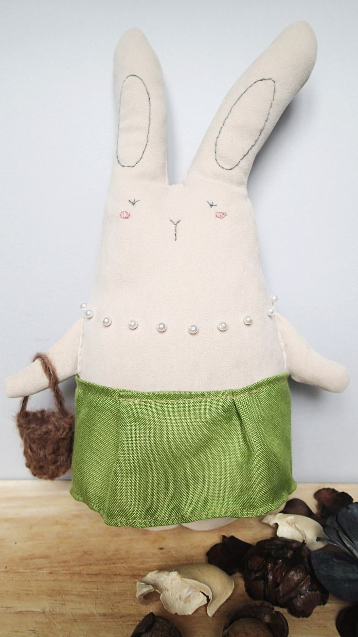 Federica The Bunny from Milano!! Handmade cuddler from Italy.