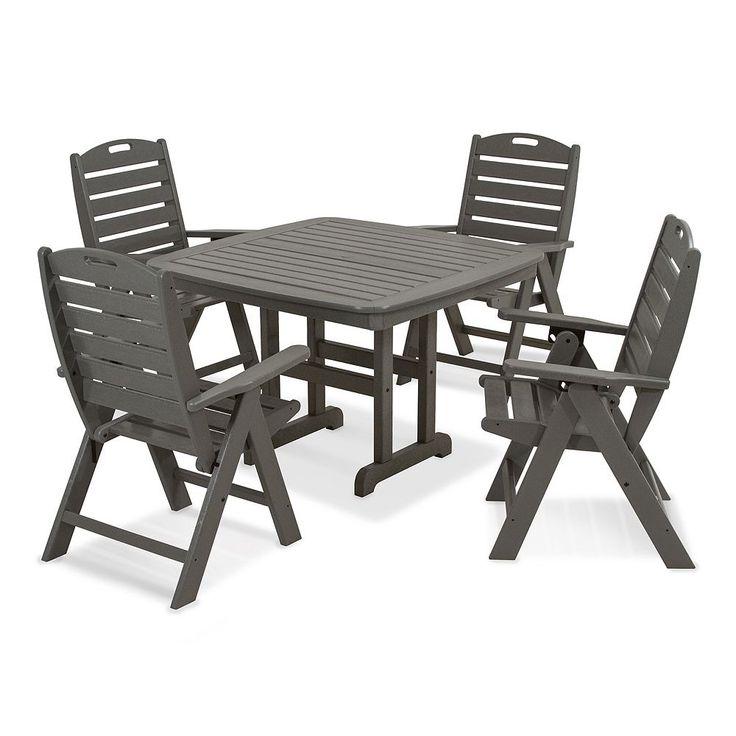 POLYWOOD 5-pc. Nautical Dining Set - Outdoor, Grey