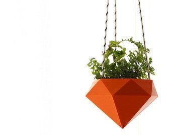 Ähnliche Artikel wie Tesselation / / 3er Satz / / moderne Wand-Pflanzer auf Etsy