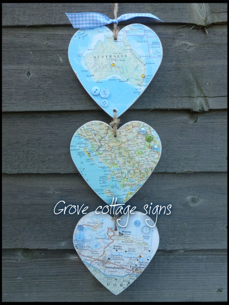 Completed order  www.grovecottagesigns.co.uk #handmade #grovecottage #maphearts  #memories #keepsakes #woodengifts