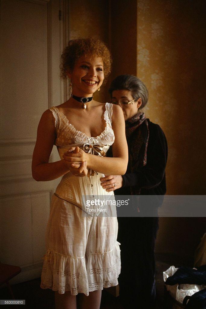 Italian actress Ornella Muti on set of the film Un Amour de Swann (Swann in Love), directed by Volker Schlondorff.