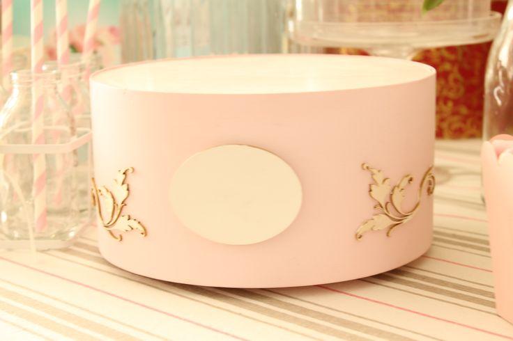 Base para tartas vintage rosa