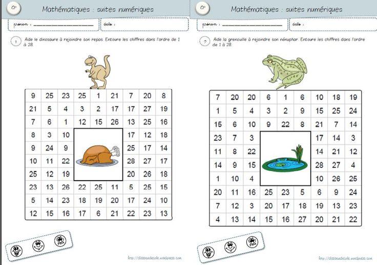 Maths CP : suites numériques (autonomie / classeur ZIL)                                                                                                                                                                                 Plus
