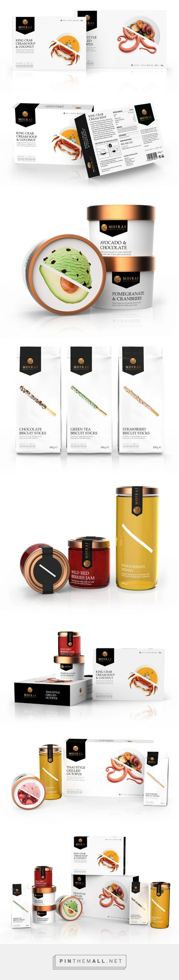 MOIRAI - Gourmet Selection on Packaging of the World - Creative Package Design Gallery... - a grouped images picture - Pin Them All