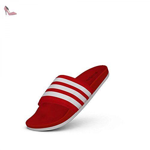 adidas Adilette Cloudfoam Ultra, Chaussures de Plage et Piscine Mixte Adulte, Rouge (Scarlet/Footwear White/Scarlet), 40.5 EU - Chaussures adidas (*Partner-Link)