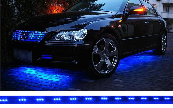 Under Car LED Lighting Strips - Remote Control, Waterproof, Blue =====> 4x under car blue LED lighting strips featuring 15 flashing modes and a mini remote control are a cheap, fun and great car enhancing accessory!     These blue car LED lighting strips are the best way to kit your car up and attract some head turns on the street.