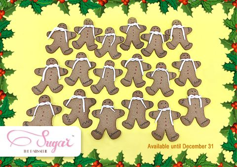 Nothing spells holidays like a cute gingerbread man, fresh out of the oven. We have ours on from now until the end of this year. Gets yours today, only at Sugar the Patisserie! #sugarthepatisserie #gingerbread #holidays #christmas2015