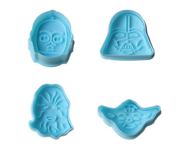 1 Conjunto 3D Star Wars Selo Definir Bolo de Cookie Cortador De Biscoito Fondant Ferramentas de Decoração