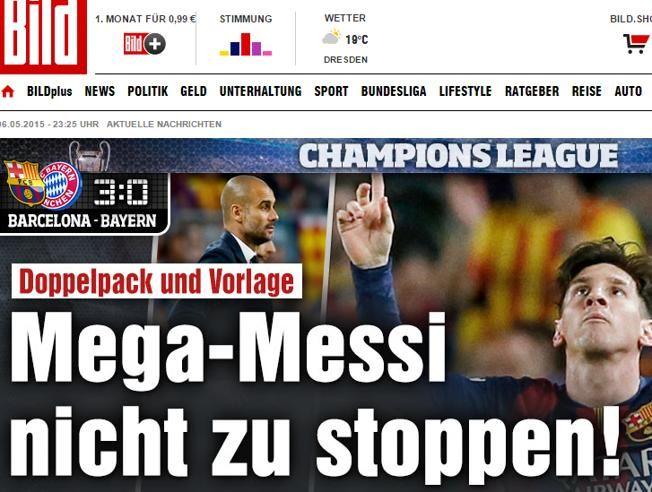 """La prensa internacional se rinde a Messi Los principales diarios internacionales hablan del argentino como """"el Dios del fútbol"""""""