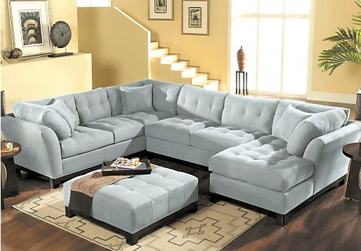 Shop For A Cindy Crawford Home Metropolis Hydra Right 4 Pc Sectional Living Room At Rooms To Go
