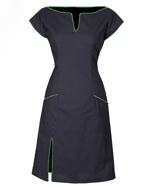 The Conni dress is made from 100% organic, cotton with an elasticated panel at the back and side zipper to make it more flexible. The dress has fine details such as pockets, edging and neckline with fine piping. A perfect dress for everyday use, but also very suitable as a party dress when styled with the right accessories. Order the dress here: http://www.ecouture.dk/product/pre-oder-connie-blackgreen-copy/?lang=en