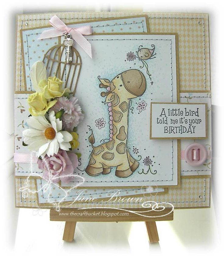 Top Three: April 2014 - card by CraftBucket using Rachelle Anne Miller stamps