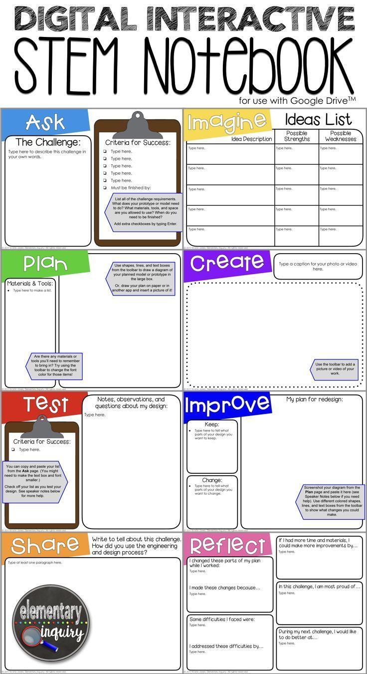 Digital Interactive Stem Notebook For Engineering Design