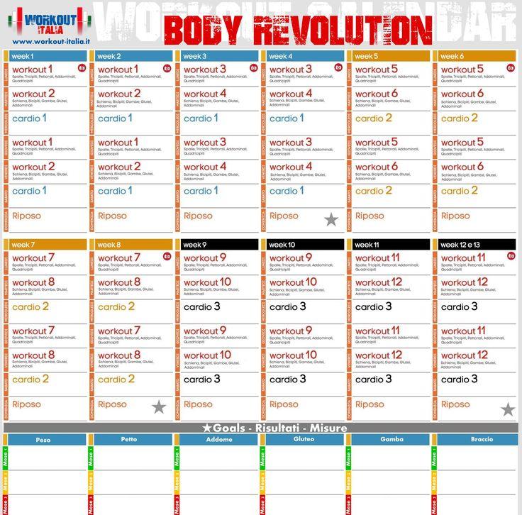 Workout Italia   Body Revolution - Workout - Workout ...