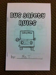 Bus Safety Rules Book {First Grade Garden}                                                                                                                                                                                 More
