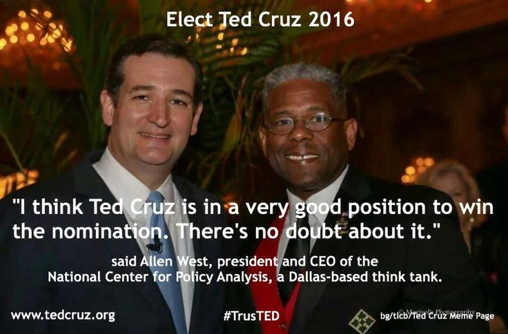 """ALLEN WEST DECLARES """"TED CRUZ IS IN A VERY GOOD  POSITIONS TO WIN THE NOMINATION, NO DOUBT ABOUT IT!"""""""