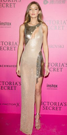 15 Jaw-Dropping Looks from the Victoria's Secret Fashion Show After-Party - Gigi Hadid from InStyle.com