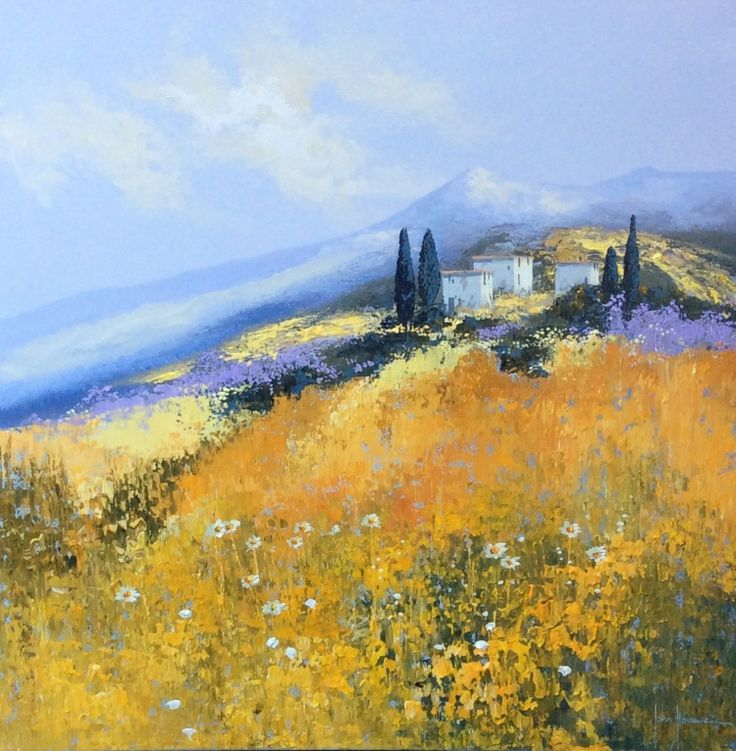 Golden Fields of Provence by John Horsewell now available at www.imagesinframes.com