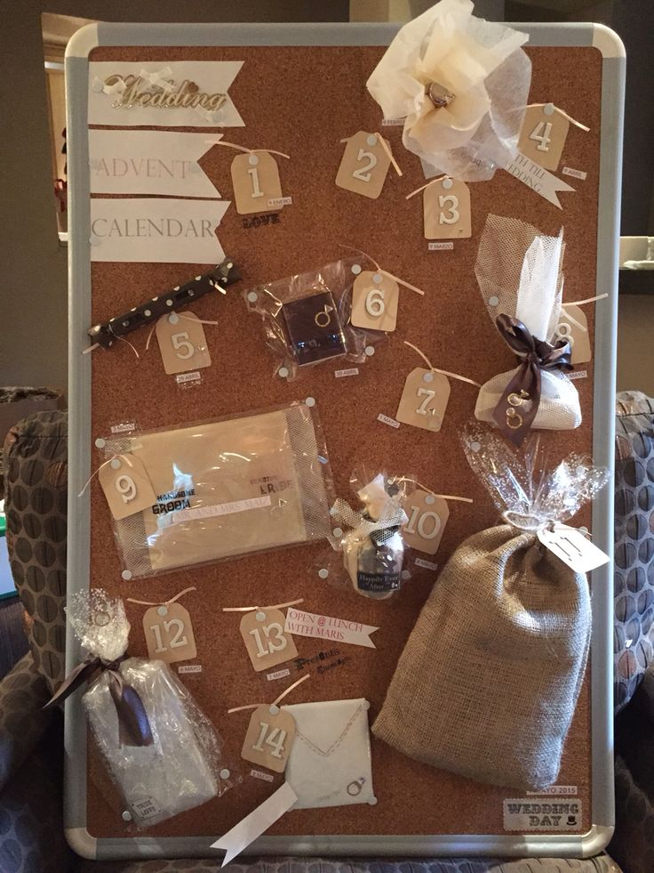 Wedding advent calendar #weddingideas #bridalgift # ...
