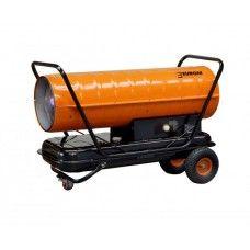 eurom heteluchtkannon 115 Kw  Professionele heteluchtkanon loopt op diesel/petroleum.  Dit hetelucht kanon is voorzien van een thermostaat. Specificaties:  - Capaciteit kcal/h 400.000 BTU  - Capaciteit kW 115  - Luchtverplaatsing 1400 M3/h  - Brandstof Diesel / Petroleum  - Tank inhoud 80 liter  - Brandstofverbruik 10 l/u  - Voorzien van een thermostaat  - Gewicht 64 kg