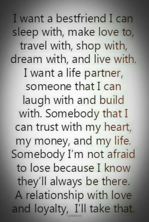what I want in a relationship partner