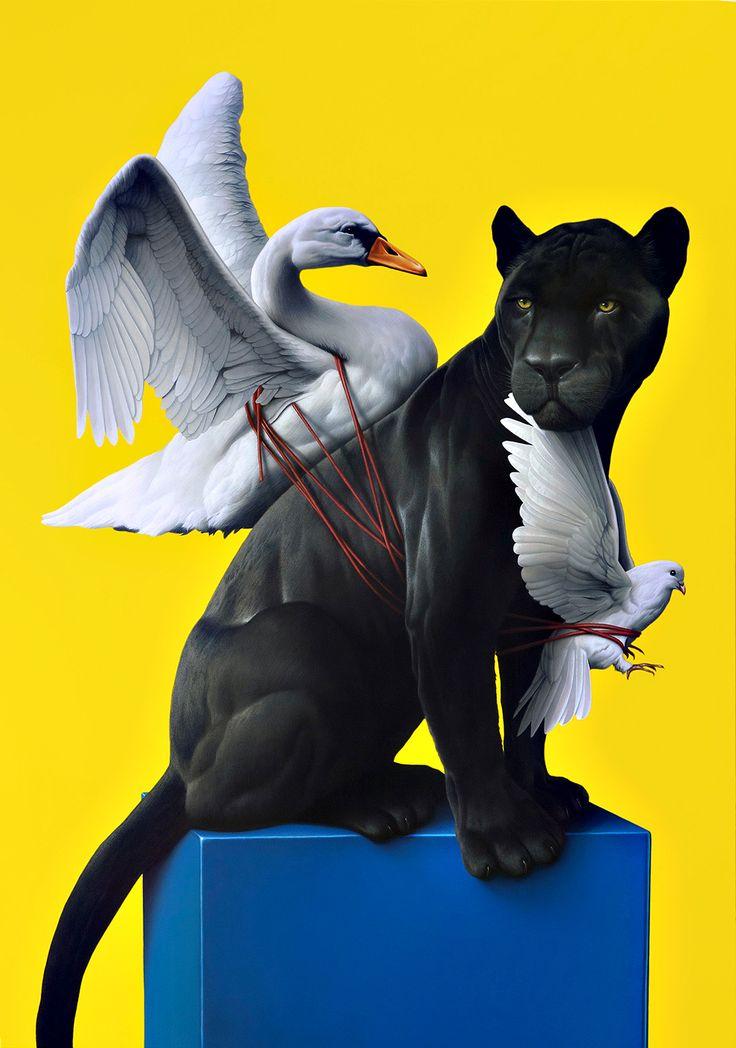 SERENITY (2012) Acryl auf Leinwand, 200 x 140                              …