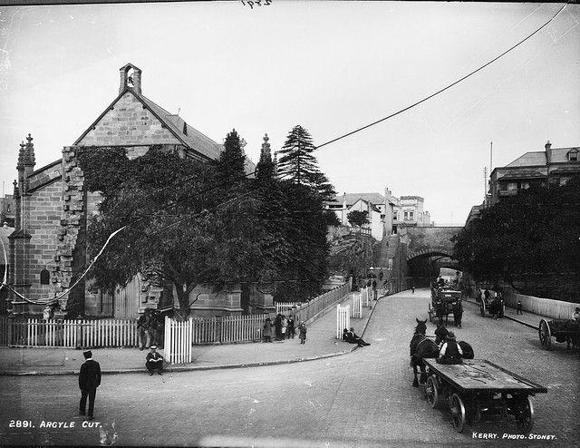 Argyle Cut, The Rocks. History Sydney NSW