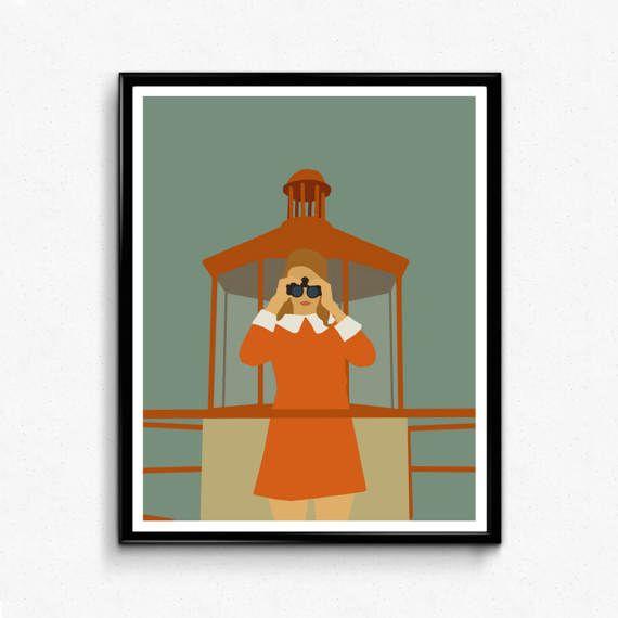 Moonrise Kingdom Movie Poster Minimalist Movie Print