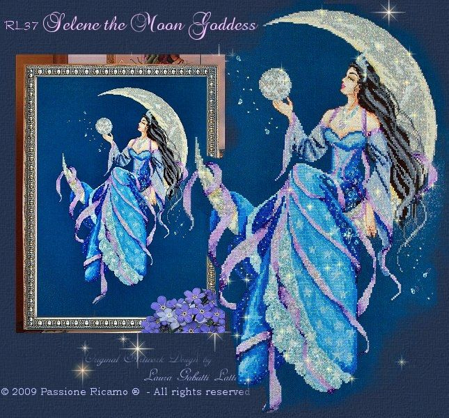 Passione Ricamo Journal: Selene the Moon Goddess - Selene dea della luna