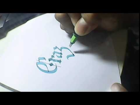 crazy hand lettering | pilot parallel pen 3.8mm