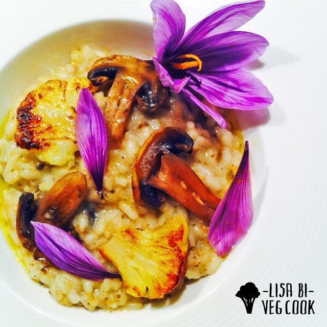 ZAFFERANO PADANO E UN RISOTTO CON I FIOCCHI - SAFFRON, MUSHROOM AND CAULIFLOWER RISOTTO