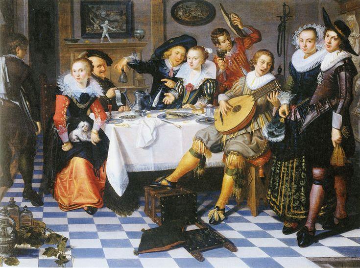 Isaac Elias Elias, Feestvierend gezelschap, 1629. De Gouden Eeuw viert feest, 2011. (Rijksmuseum, Amsterdam). #party #painting