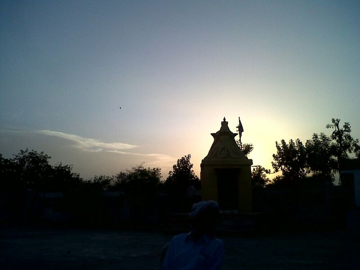 Silhouette of temple and trees and...sunset..#silhouette #trees #temple # gujrat #repin #phonephotography
