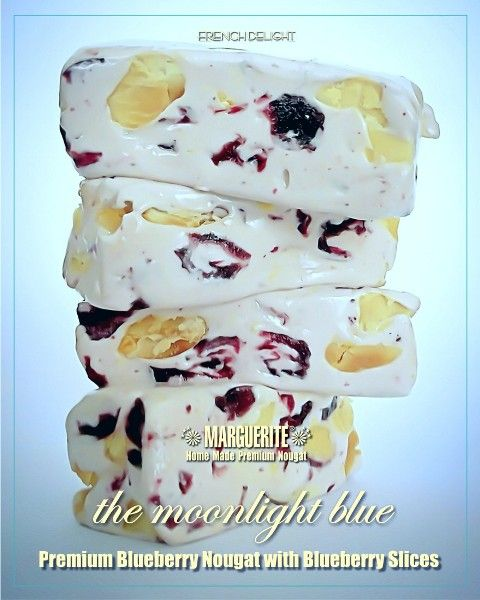 Blueberry Nougat Rich dried blueberry and roasted peanut inside www.nougatworld.net 021 333733688-89 081381122228