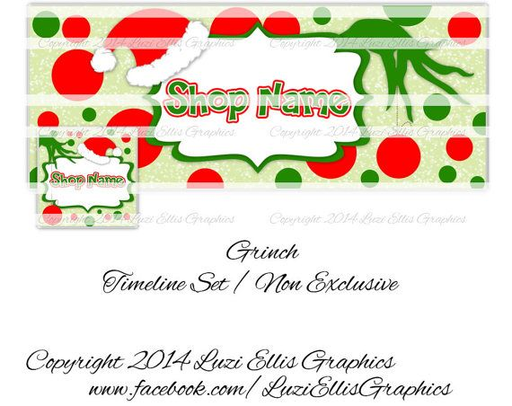Grinch Facebook Timeline  Banner & Profile  by LuziEllisGraphics