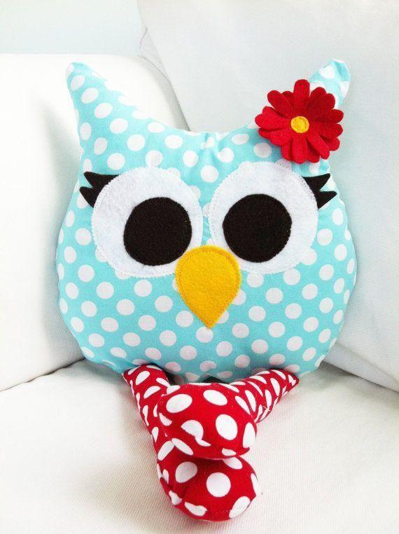 Niesamowicie wygl?daj?ce poduszki w ksztaLcie sowy Zrob to sama - pluszaki Pinterest
