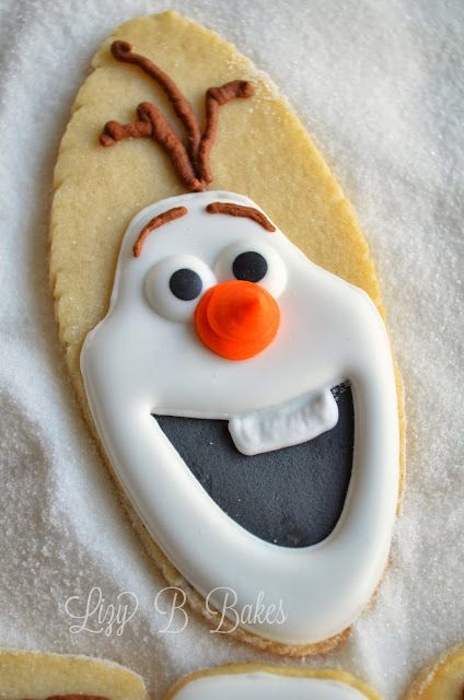 Lizy B: Olaf the Snowman Cookies!