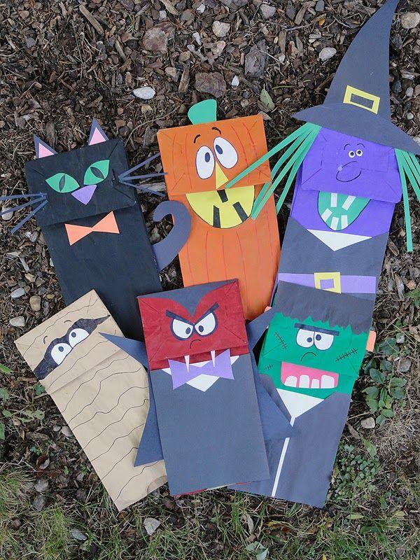 ESPAÇO EDUCAR: Fantoches de Halloween feitos com sacos de papel!