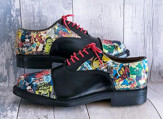Mens Marvel Shoes Groom Shoes Wedding Shoes Mens Shoes